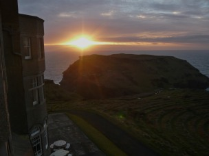Sunset, Cornwall, Cliffs, Sea, Tintagel
