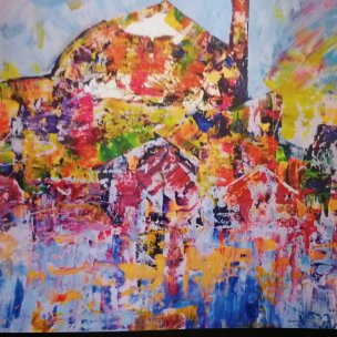 Art, paintings, Cornwall, Ted Stourton, Hotel