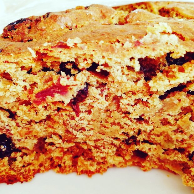 fruit cake, dried fruit, brandy, eggs, butter